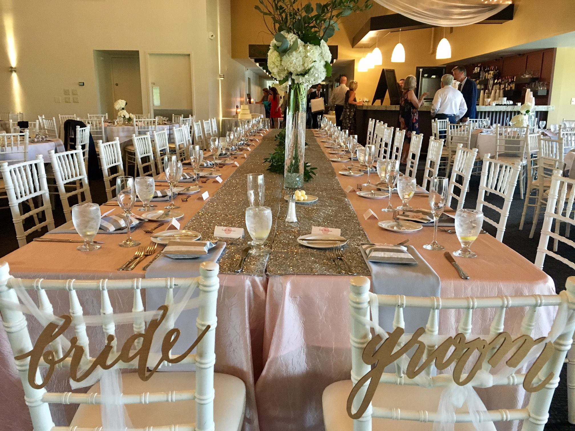 White Harvest Table Weddings At Dellwood Country Club