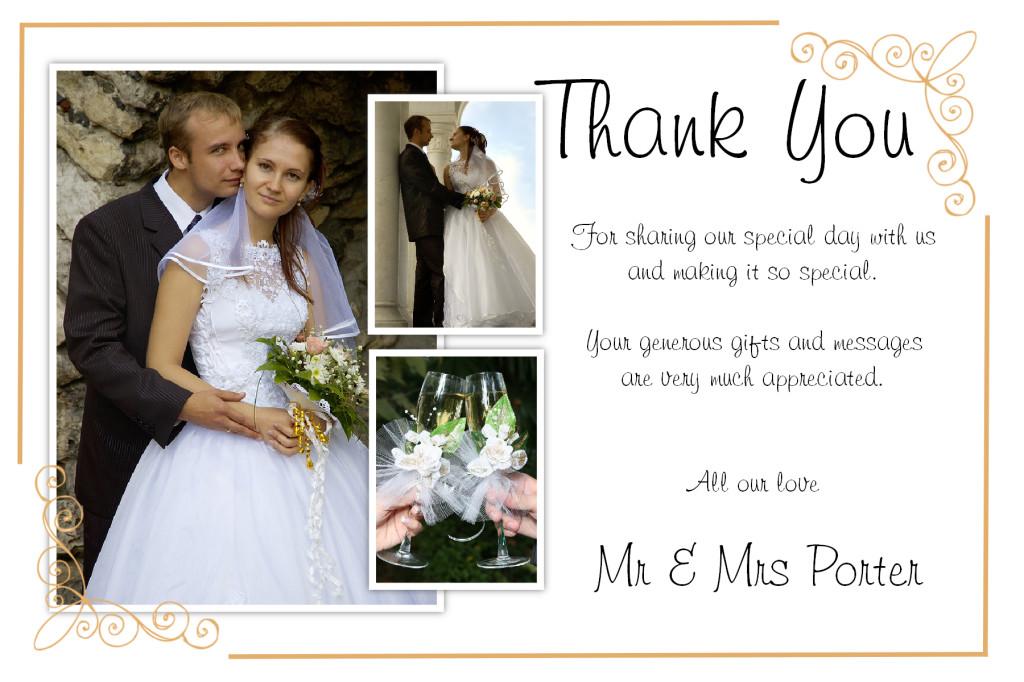Unique DIY Wedding Thank You Card Ideas \u2013 Weddings by Helen