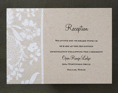 What is a Reception Card? - Weddings for a Living