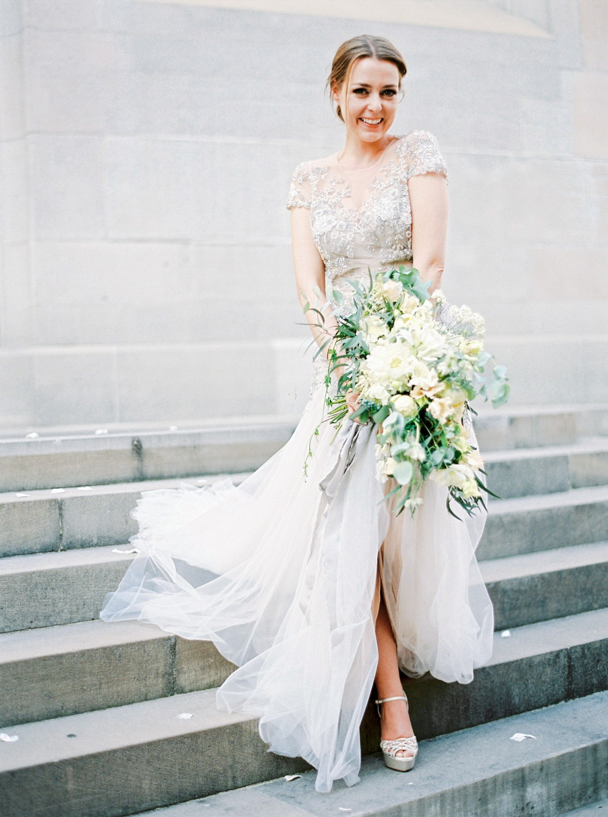 glamorous zurich wedding in an inbal dror gown mint wedding dress Glamorous Zurich Wedding in an Inbal Dror Gown