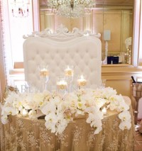 Stylish Sweetheart Table Decorations - Weddings Romantique
