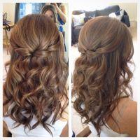 Wedding Hairstyle For Long Hair : Half up half down hair ...