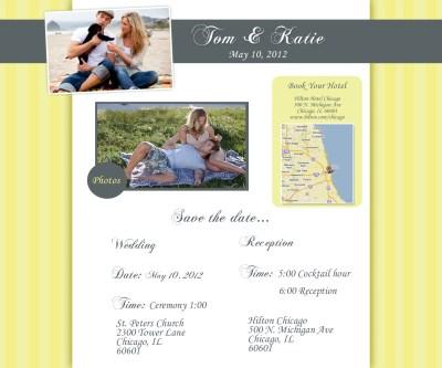 Chicago wedding websites – yellow wedding website design ...