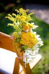 Желтая палитра в свадебной флористике