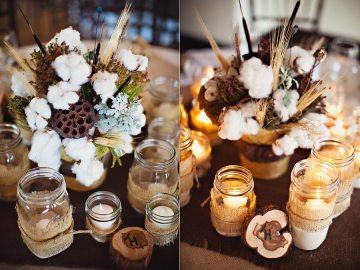 Воздушная нежность: хлопок в свадебном декоре