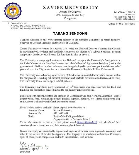 Tabang Sendong Tabang Sendong   An Appeal for Help
