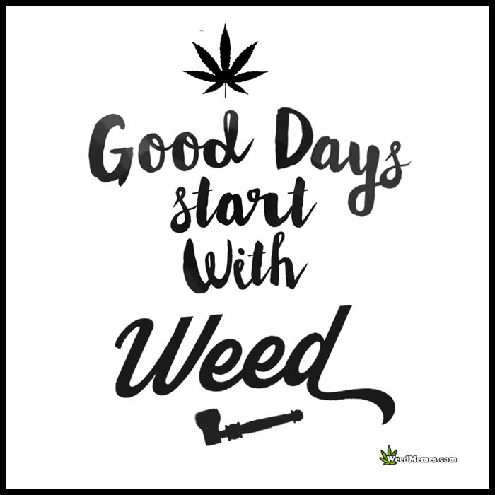 Black And White Leaf Wallpaper Good Days Start With Weed Smoke Marijuana Quotes