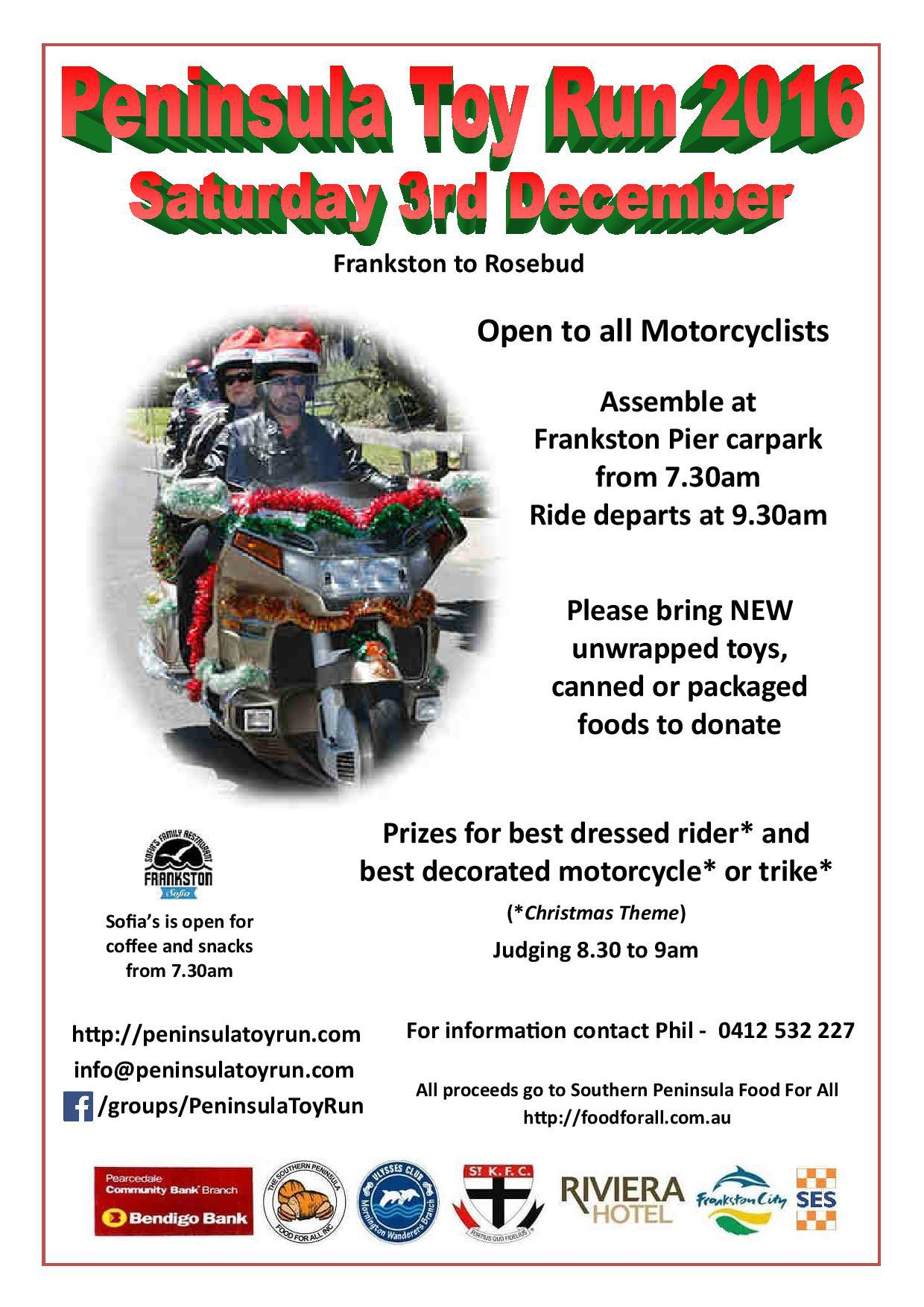 Toy Melbourne Peninsula Toy Run Melbourne