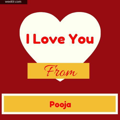 I Love You Pooja 3d Name Wallpaper Pooja Name Images And Photos Wallpaper Whatsapp Dp