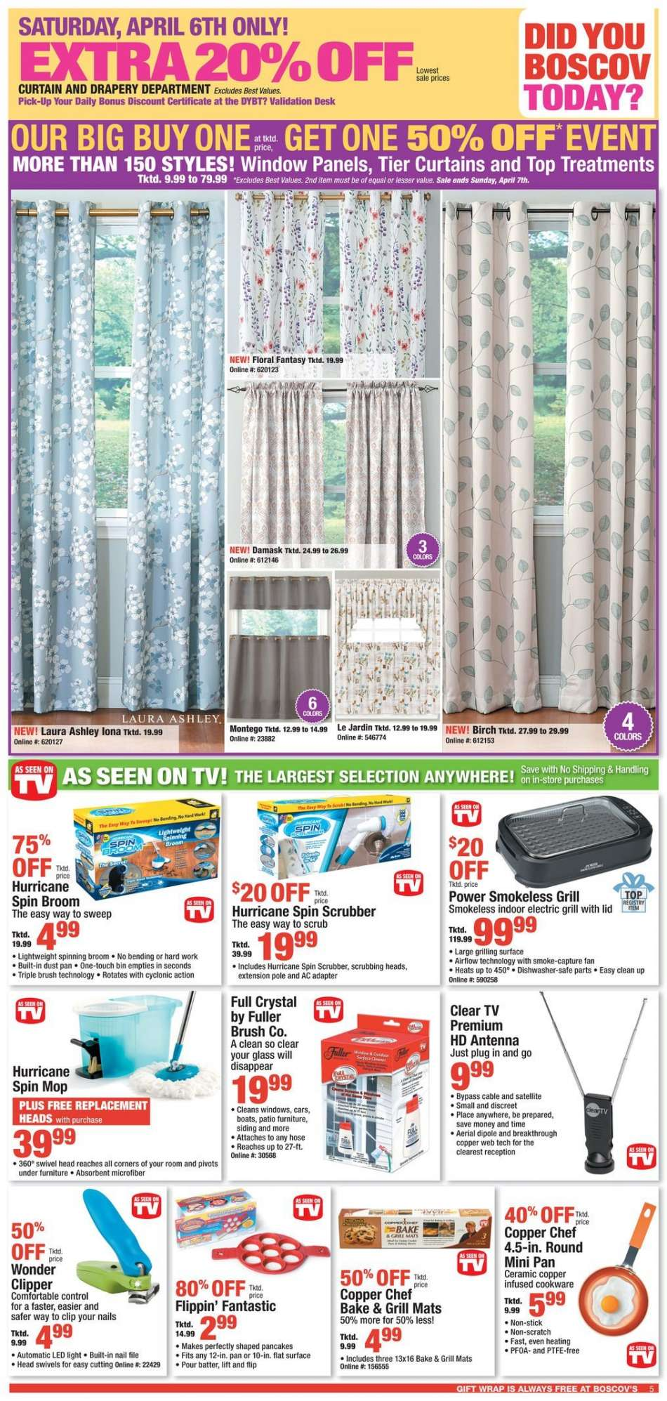 Boscov's Shower Curtains Boscov S Flyer 04 03 2019 04 10 2019 Weekly Ads Us