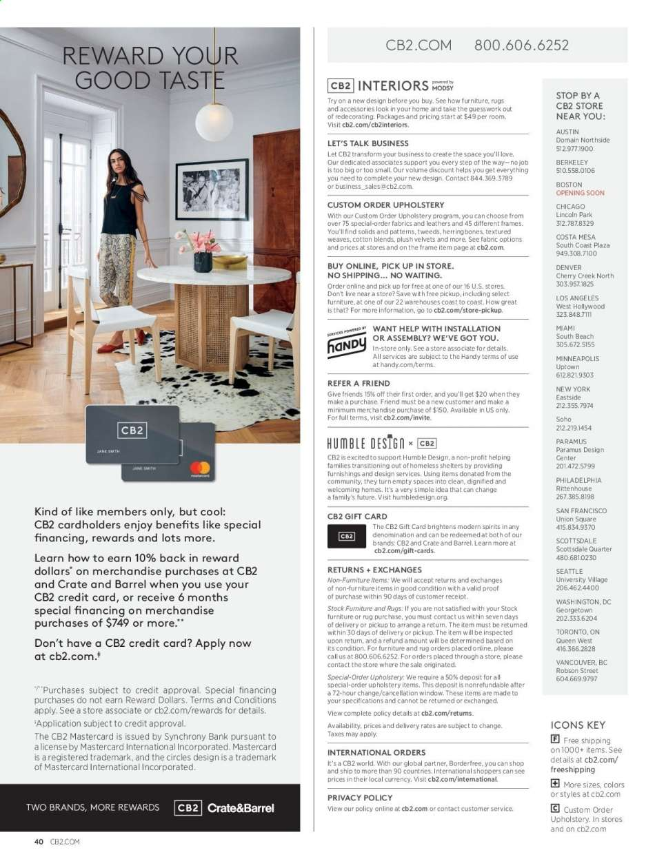 Stores Like Cb2 Current Cb2 Flyer 05 01 2019 05 31 2019 Weekly Ads Us