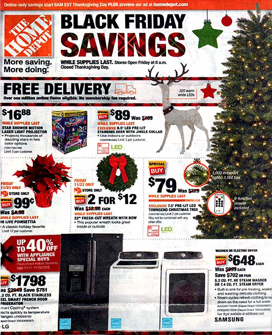 Www Black Friday Home Depot Black Friday Ad 2018