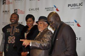 (L to R) Producers Dotun Okahunri, Bolanie Austen-Peers, Pemon Rami and Director Steve Gukas.