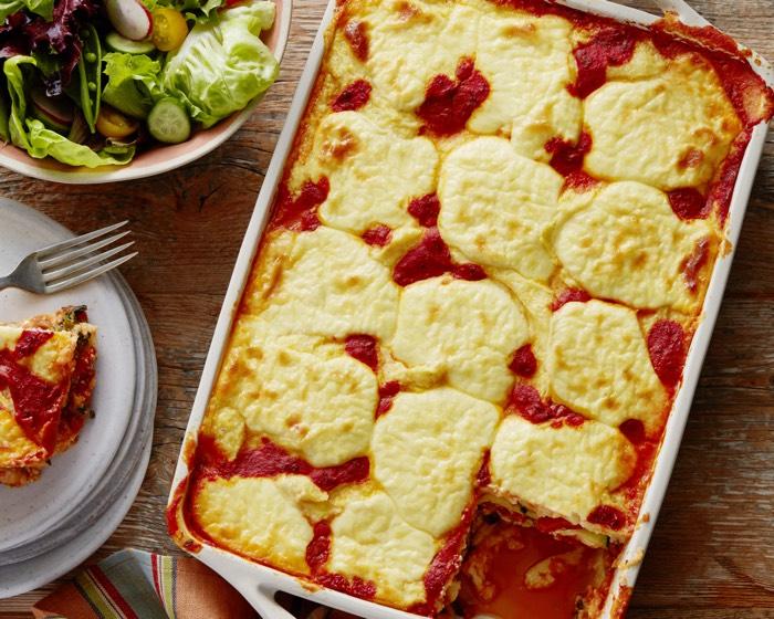 Polenta Lasagna from weelicious.com