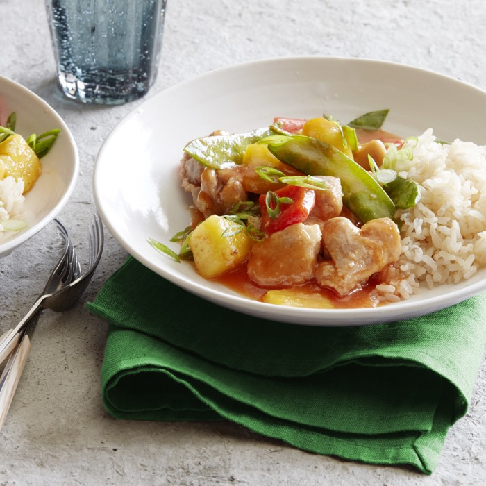 Sweet & Sour Pineapple Chicken recipe from weelicious.com