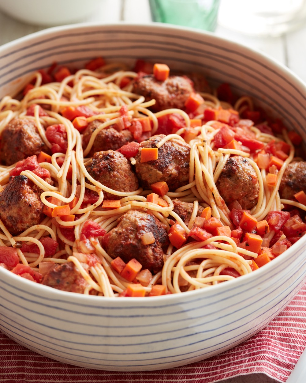 Spaghetti with Turkey Meatballs from weelicious.com