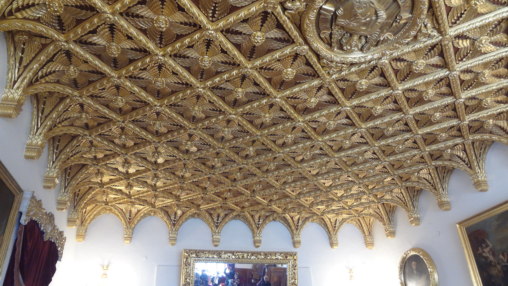 Dining Room Ceiling Bojnice Castle, Slovakia | Weepingredorger