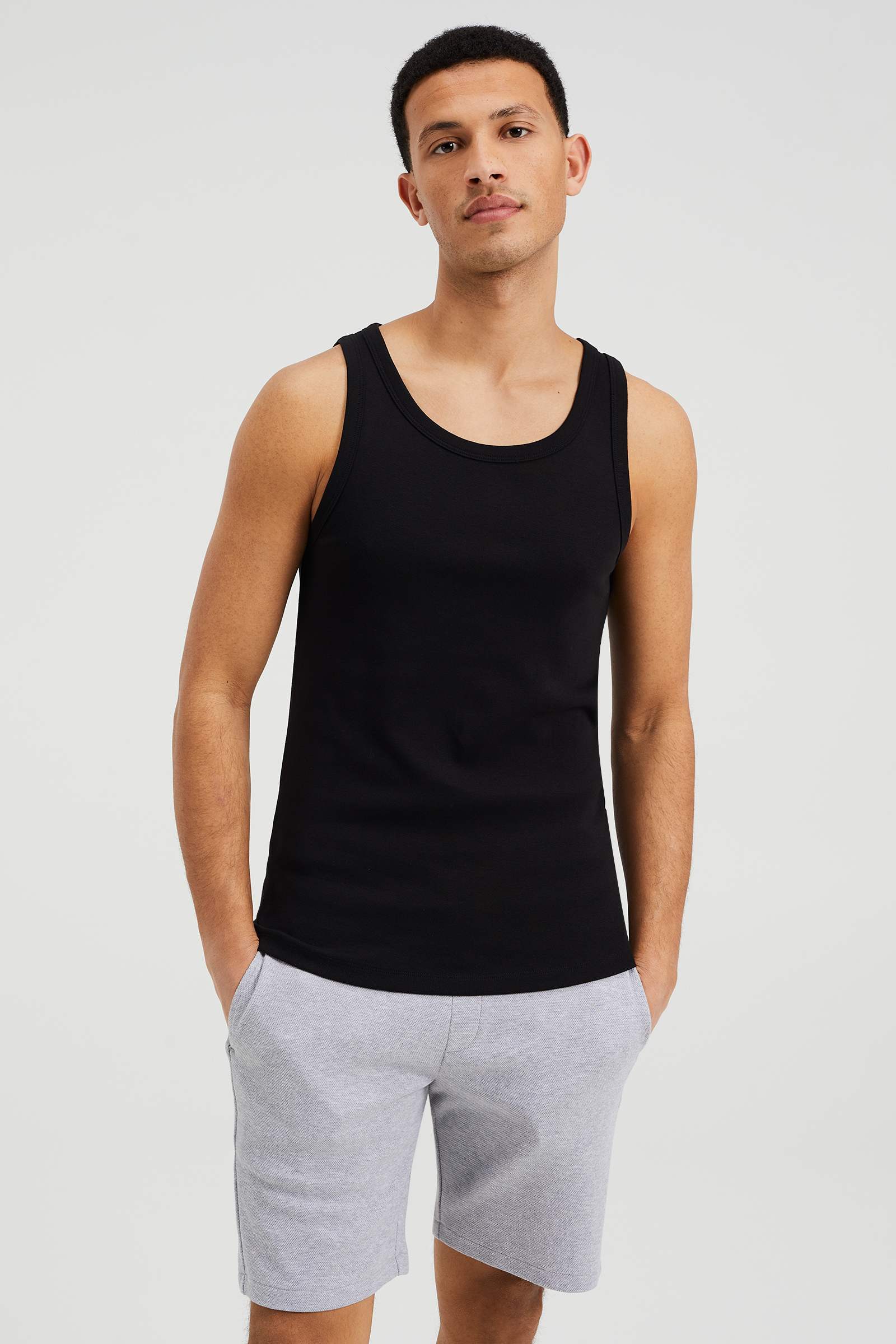 Singlet Heren Heren Organic Cotton Singlet | 75729721 - We Fashion