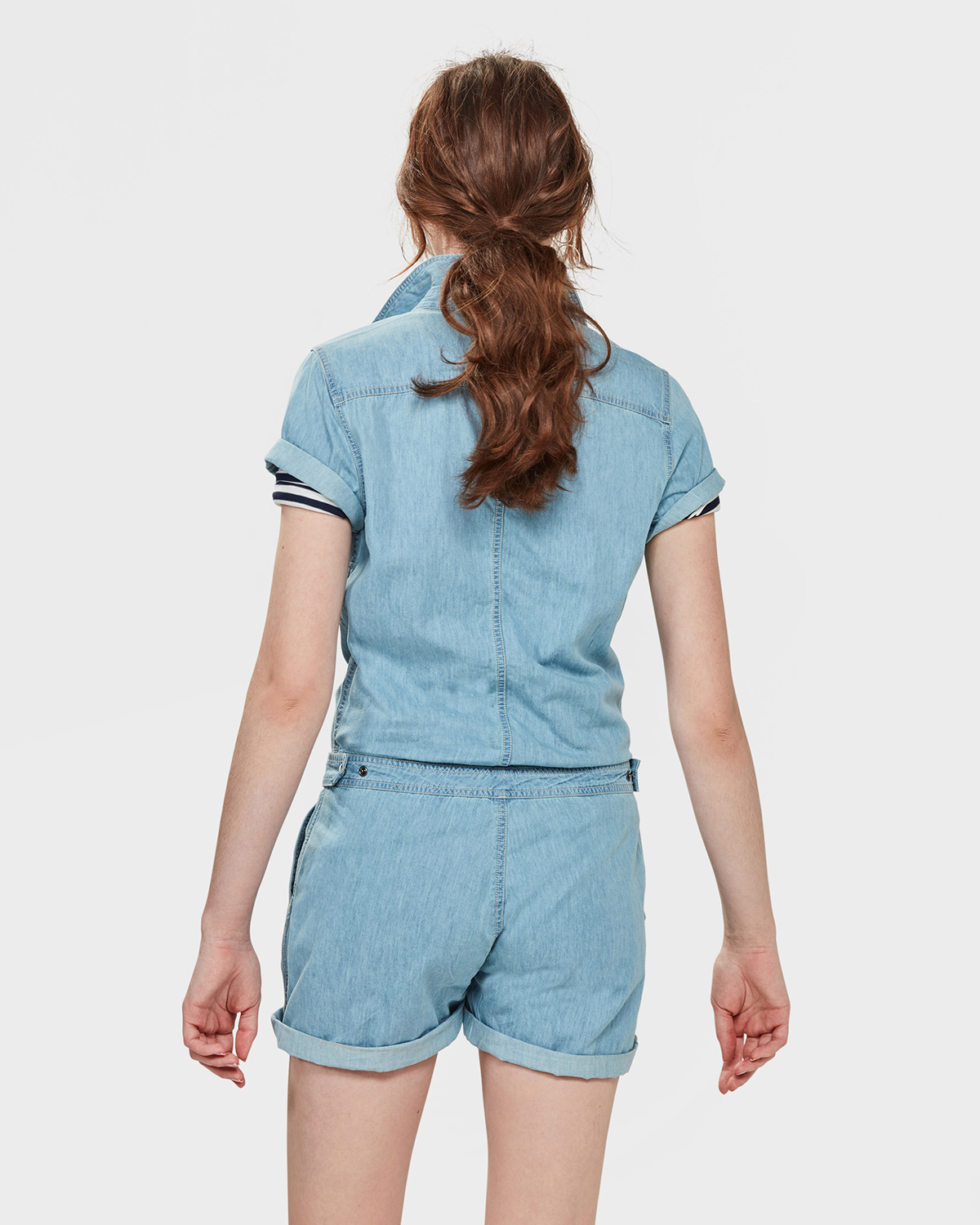 Playsuit Dames Dames Denim Playsuit 79267175 We Fashion