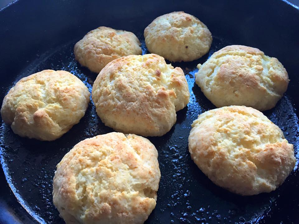 Cooked buttermilk biscuits