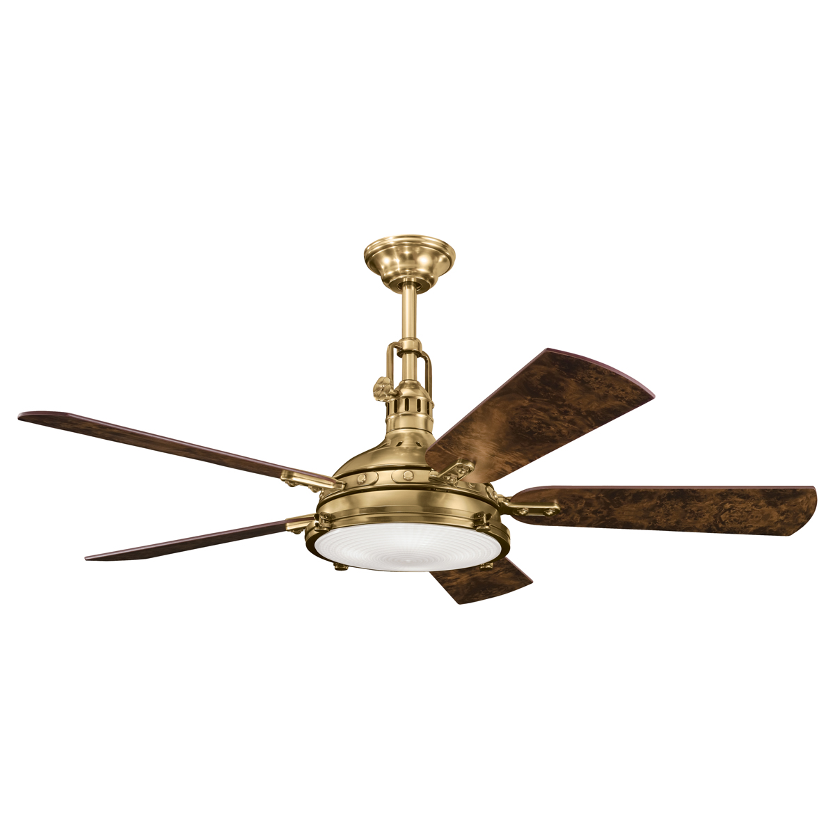 Vintage Looking Fans Hatteras Bay 56 Quot Burnished Antique Brass Ceiling Fan With
