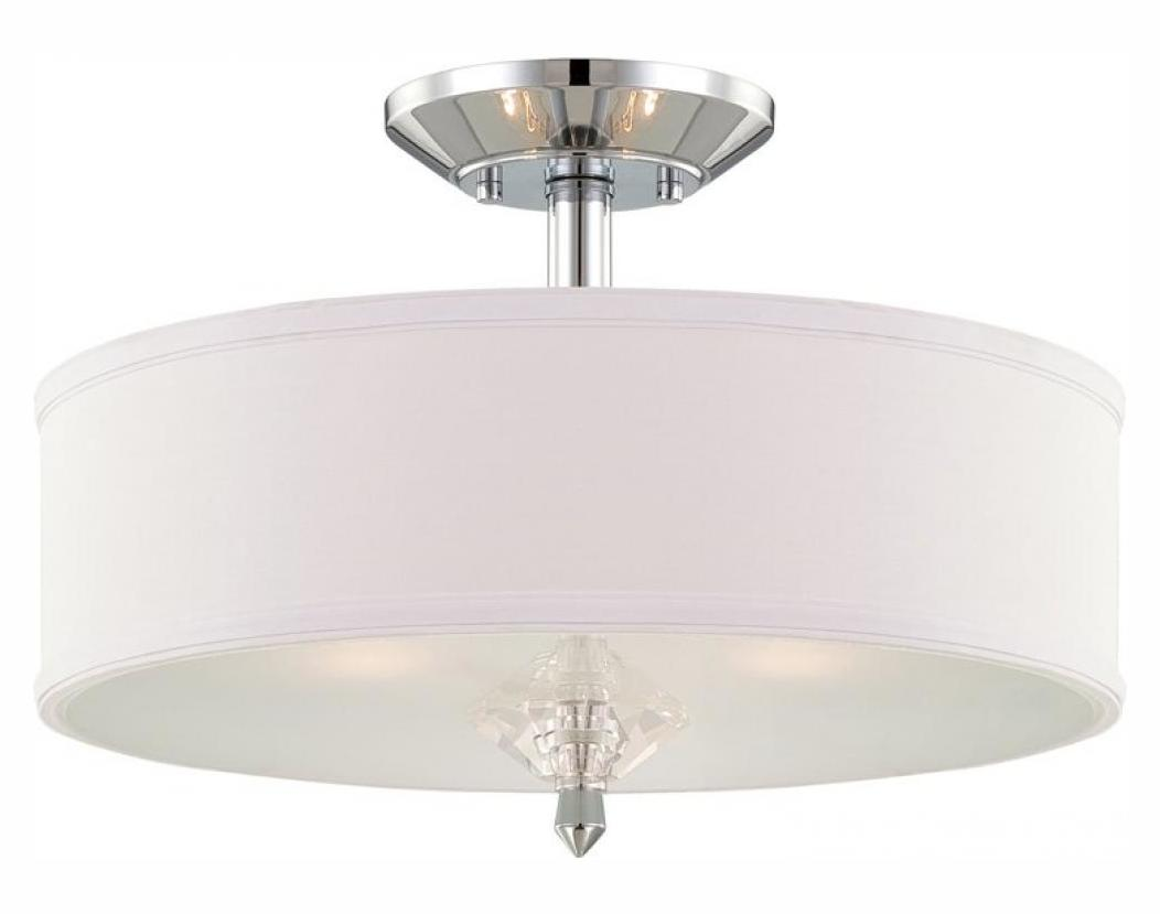 Designers Fountain Lighting Designers Fountain Chrome Palatial 3 Light Semi Flush