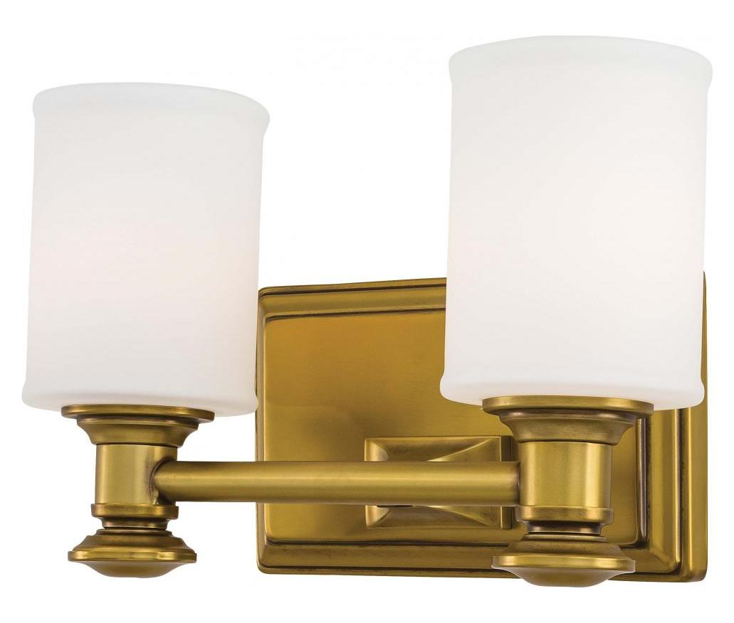 Gold Vanity Light Fixtures Minka Lavery 2 Light Bath Vanity Light With Gold Finish