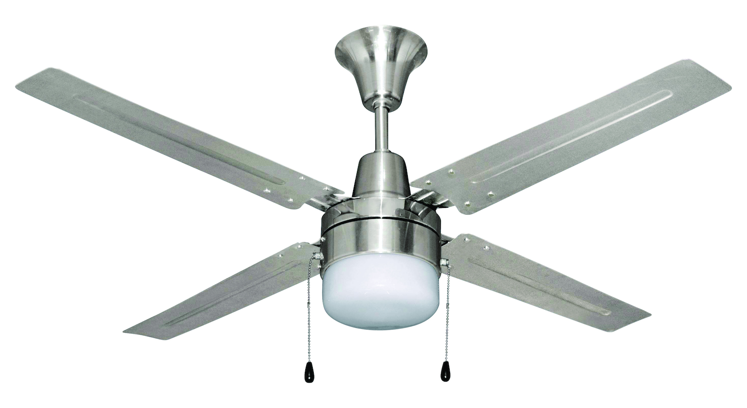 Chrome Ceiling Fans Without Lights Craftmade Brushed Chrome Finish Ceiling Fan With Light Kit