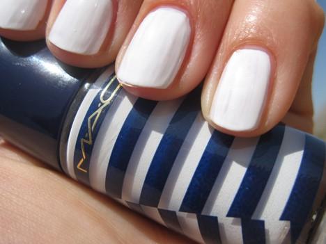 MACsailorWhiteNail MAC Hey, Sailor! Cheeks, Nails & Body   review, photos & swatches