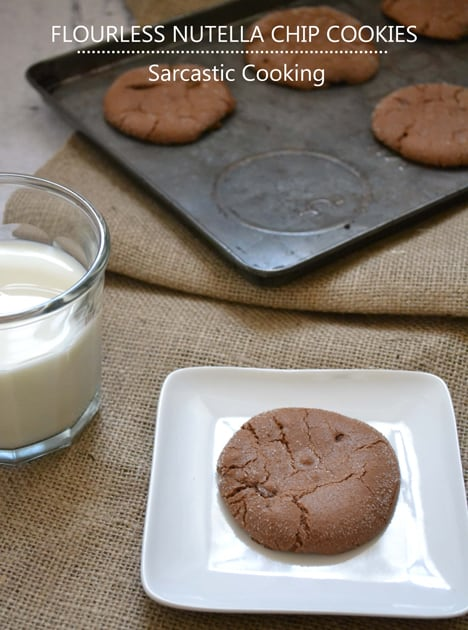 Flourless Nutella Chip Cookie Flourless Nutella Chip Cookies recipe