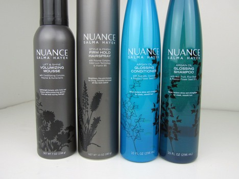 Nuancehaircare1 Nuance Salma Hayek Argan Oil Shampoo and Conditioner   review