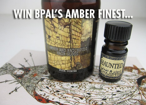 BPALgiveawaytwo BPAL Amber Giveaway   Win Haunted Oil and Amber & Patchouli Hair Gloss!