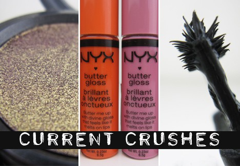 CurrentCrushes0906 Current Crushes: MAC Pressed Pigment in Damson, Avon Mega Effects Mascara and NYX Butter Gloss