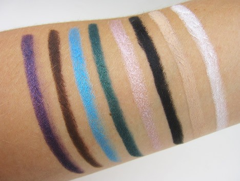 Jordana 12 hour eyeshadow pencil swatches