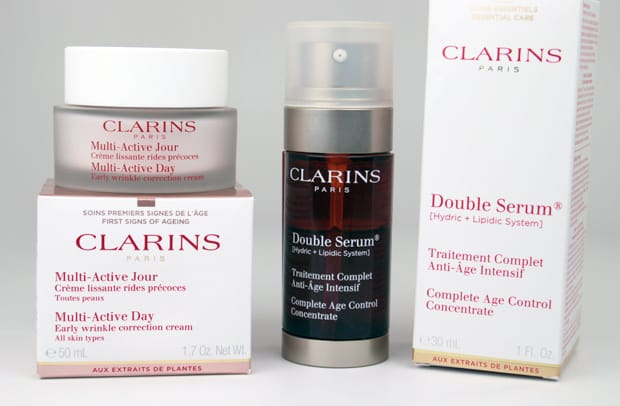clarins double serum and multi active day cream review we heart this. Black Bedroom Furniture Sets. Home Design Ideas
