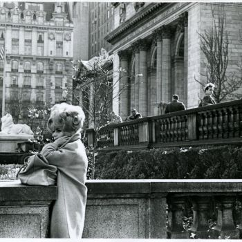 1960s street fashion: N.Y. Library 5 ave