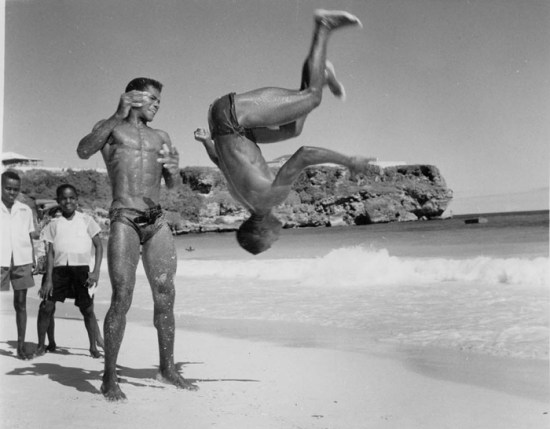 1950s boys on the beach in Barbados