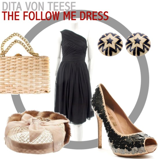 Dita von Teese follow me dress