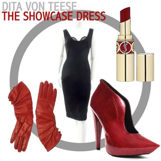 Dita von Teese's showcase dress