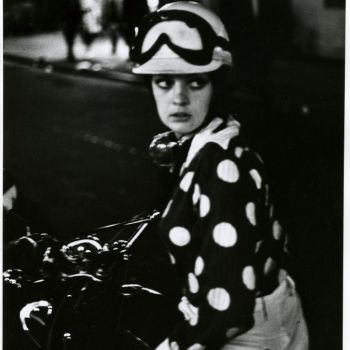 1960s mod girl on a scooter