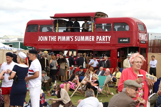 The Pimms bus at Goodwod Revival