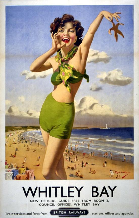 1940s vintage poster girl in bikini