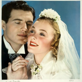 1940s bridal fashion photo from McCall Magazine