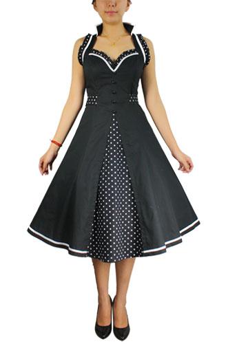 Retro Ruffle Halter Dress