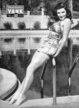 Gene Tierney WWII pin up for YANK Magazine