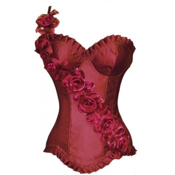 retro corset red