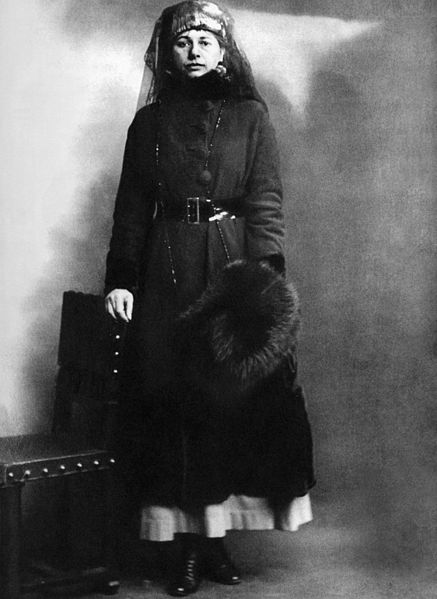 Mata Hari on the day of her arrest, 13-2-1917
