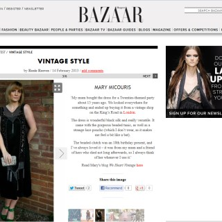 Look at me in Harpers Bazaar!