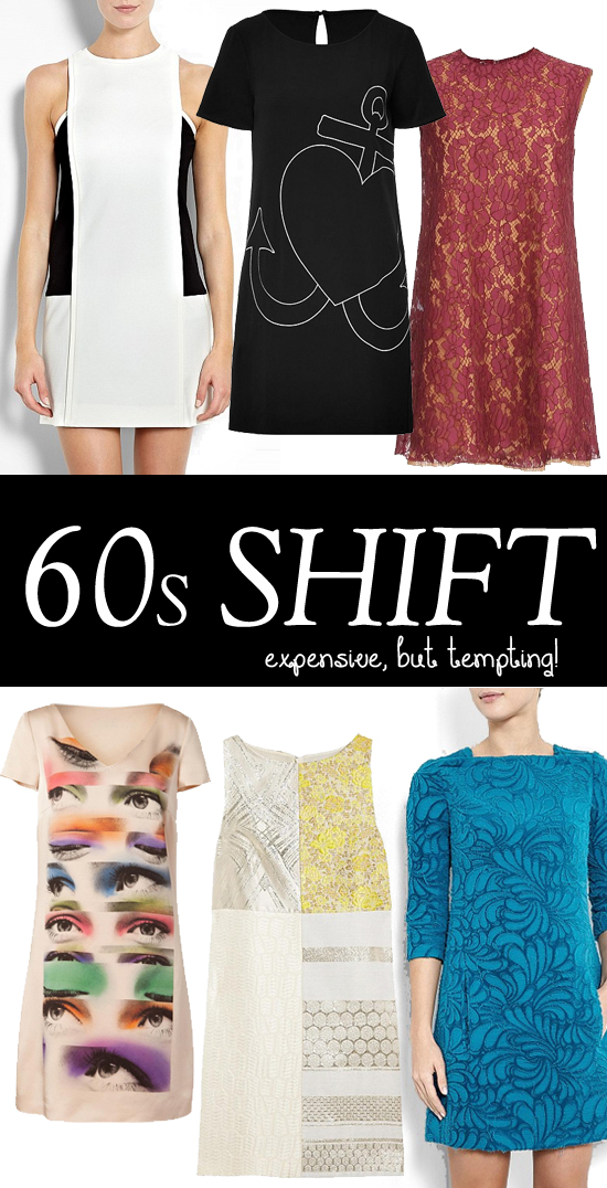 1960s shift dresses - designer