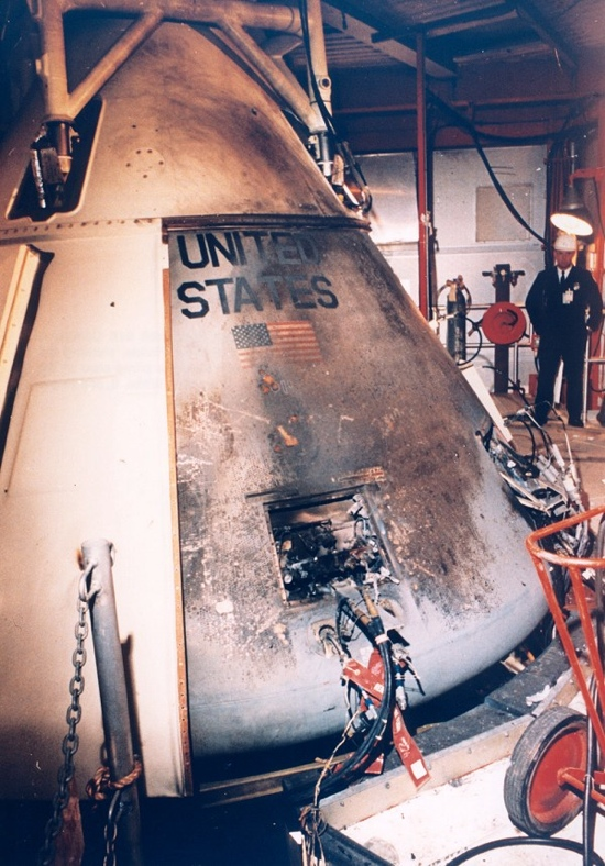 Apollo 1 after the fire